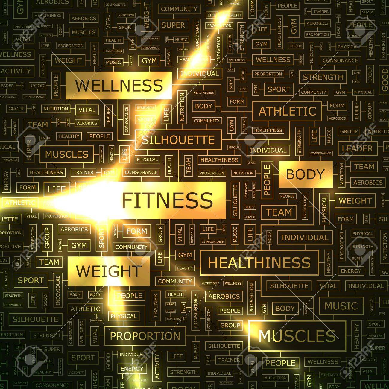 FITNESS  Word collage Stock Vector - 16709485