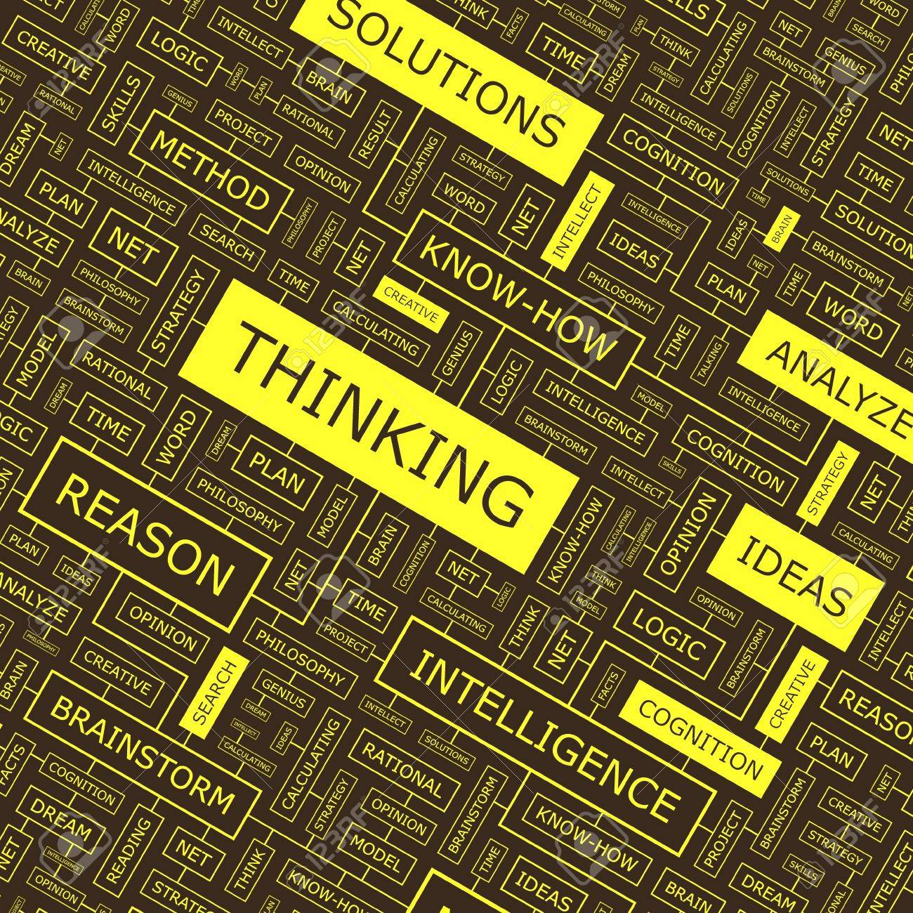 THINKING  Word collage Stock Vector - 16479929