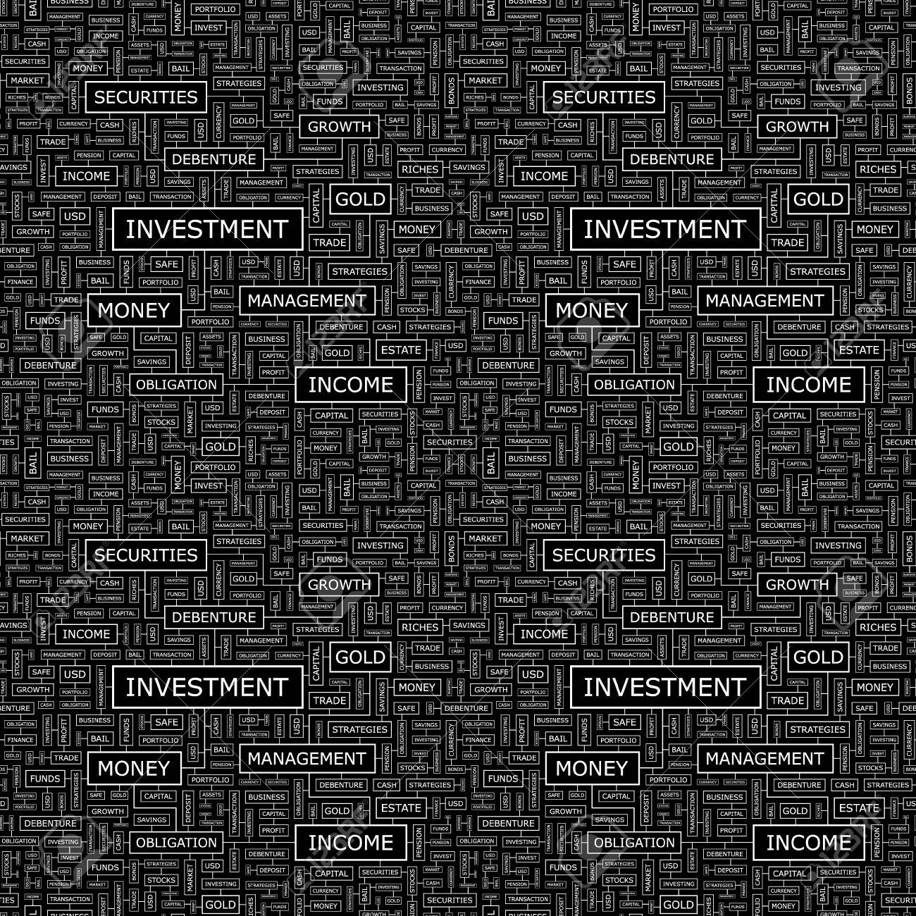 INVESTMENT  Word collage  Seamless vector pattern Stock Vector - 17431143
