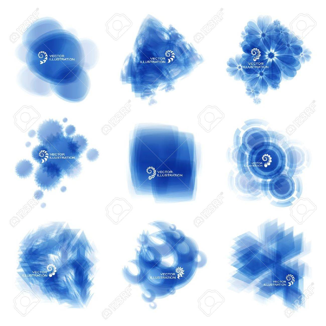 Blue abstract light background Stock Vector - 15339344