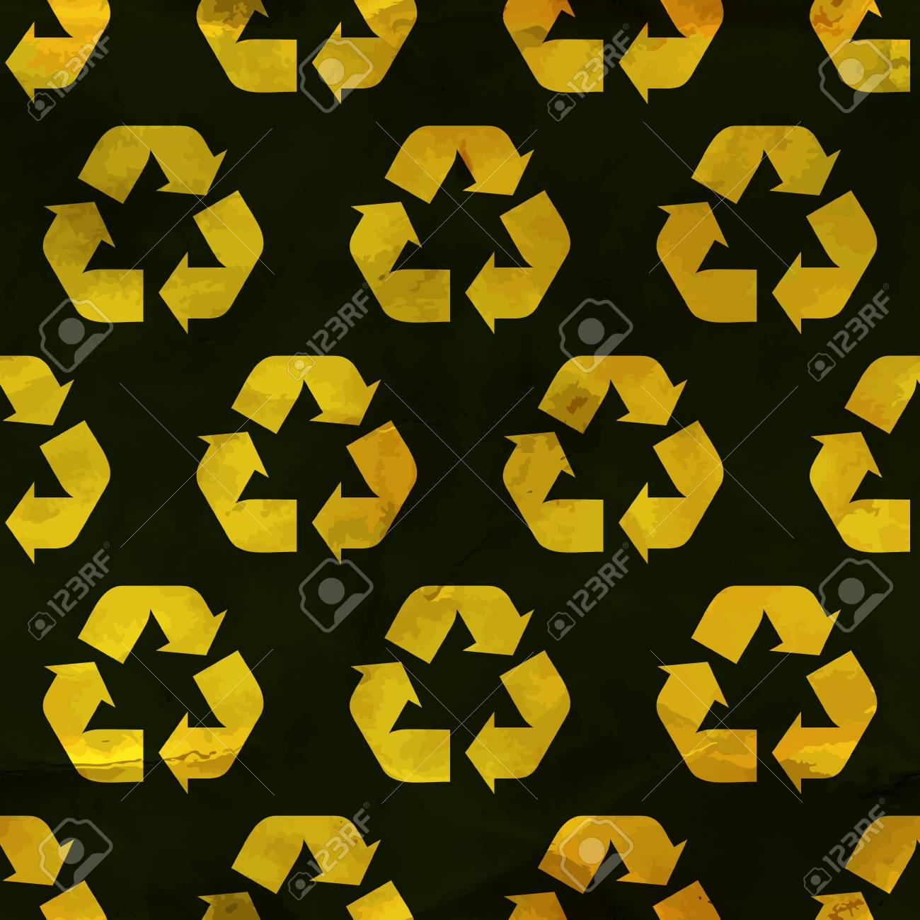 Recycle symbol  Seamless pattern Stock Vector - 18353828