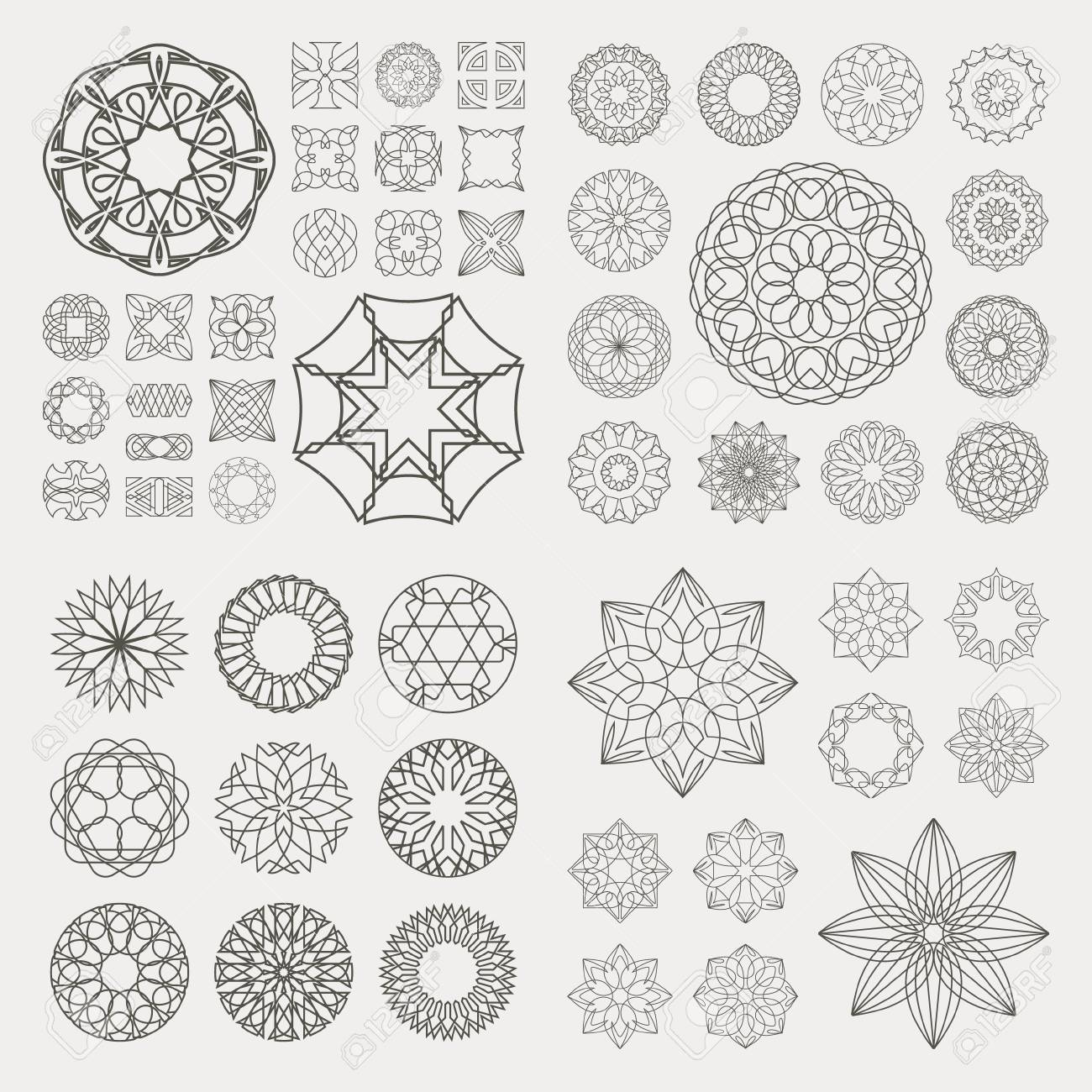 Collection of different graphic elements for design - 19371982