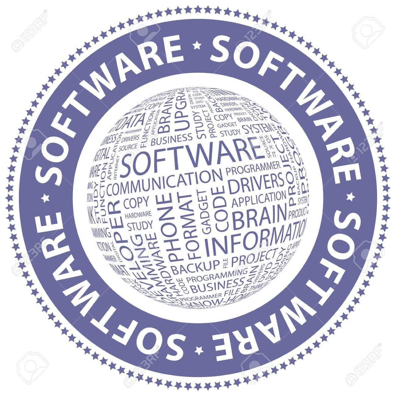 SOFTWARE  Word collage Stock Vector - 18432478