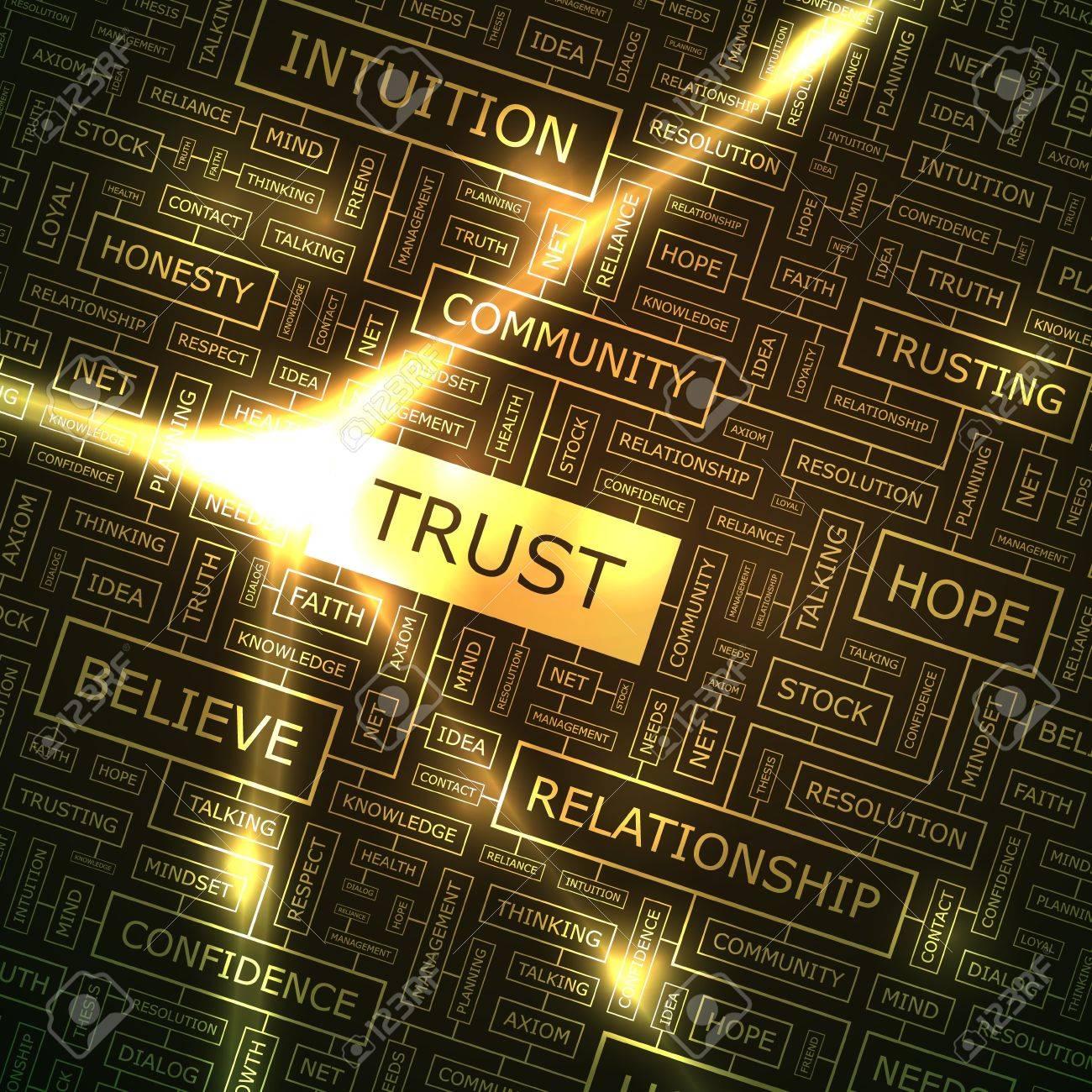 TRUST  Word collage Stock Vector - 18334569