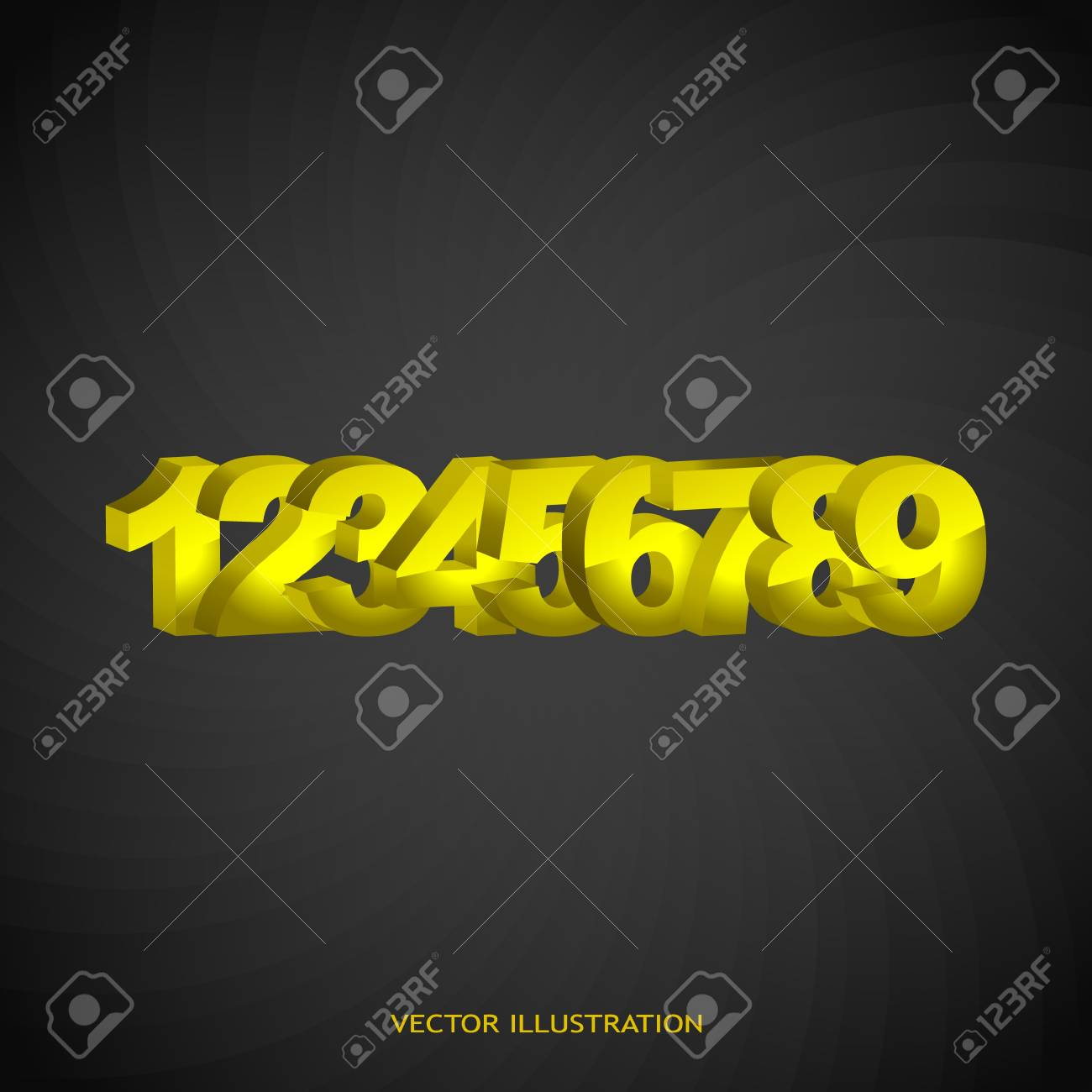 3d numbers Stock Vector - 17540458