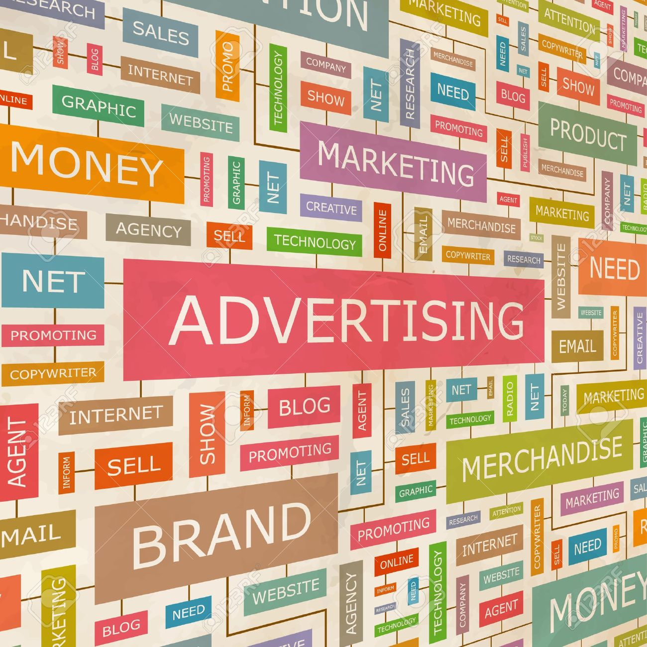 ADVERTISING Word collage - 18350350