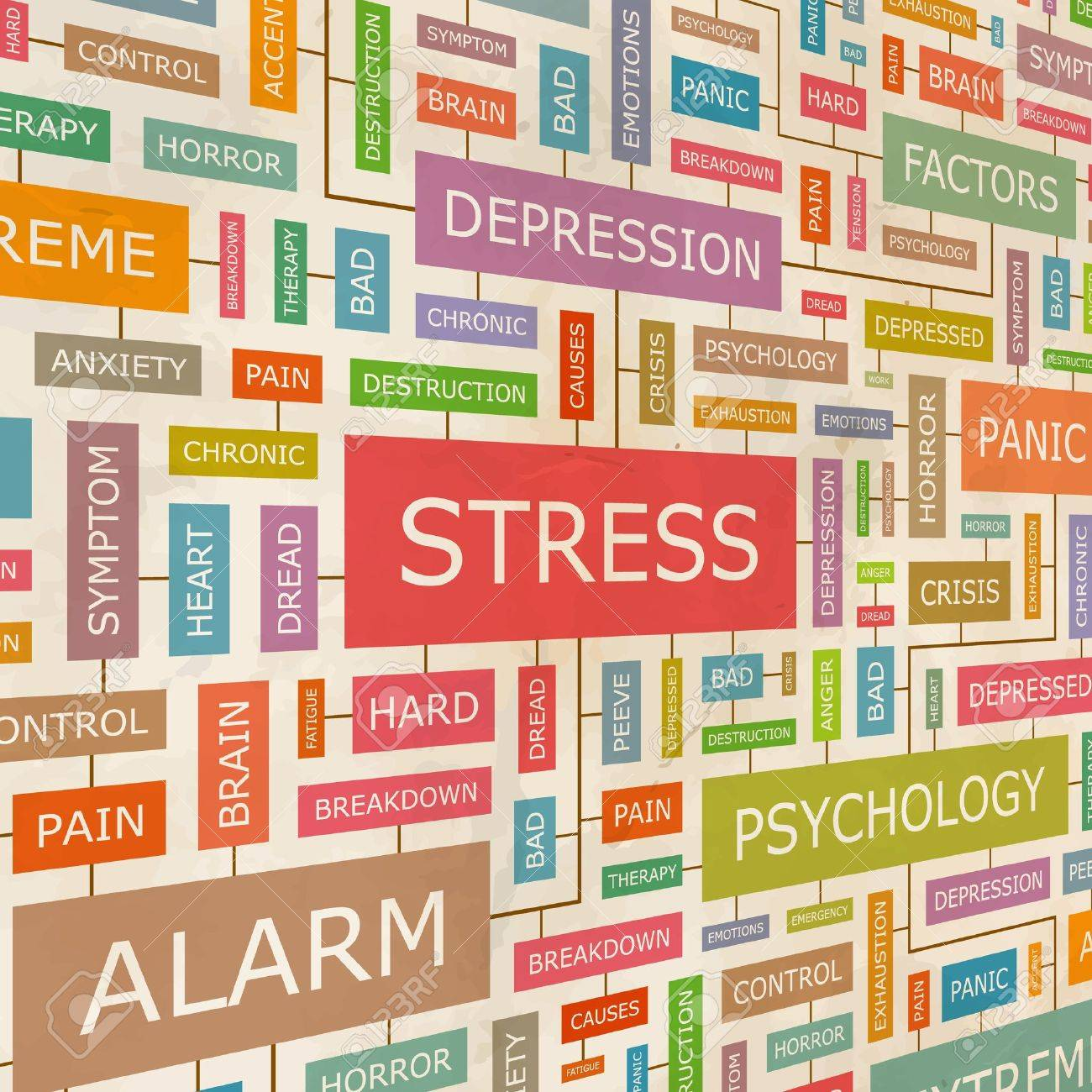 STRESS Word collage - 18376270