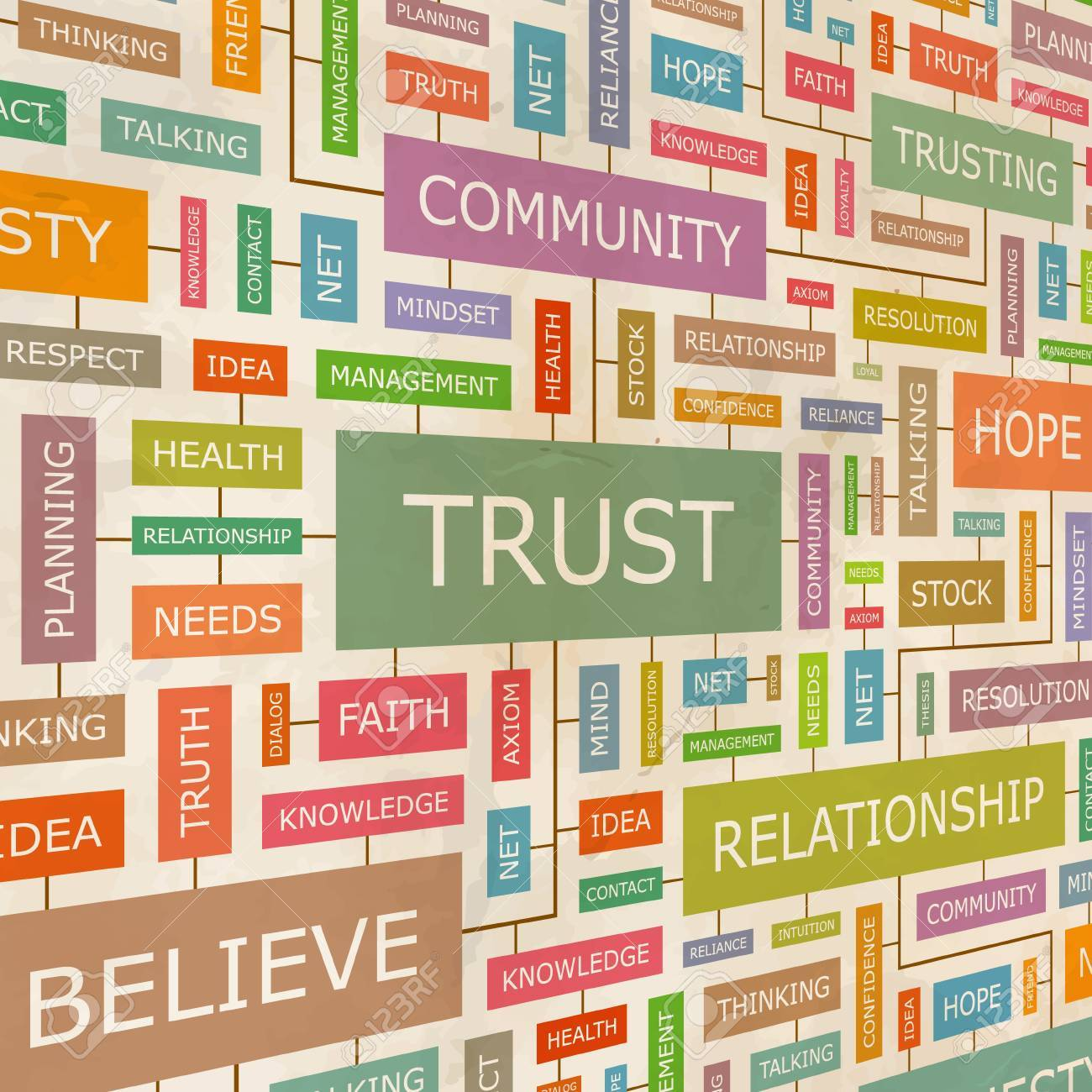 TRUST  Word collage Stock Vector - 17601954