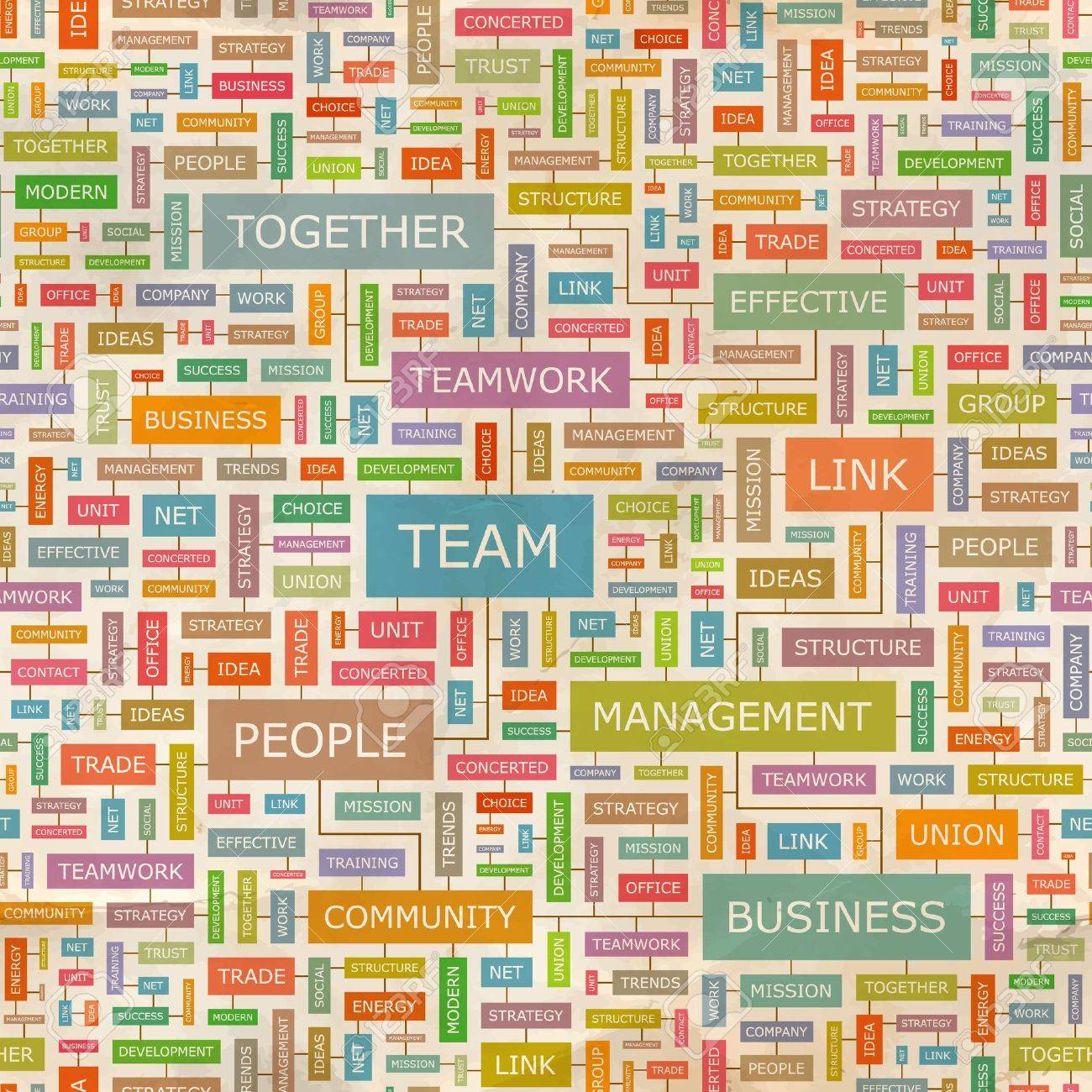 TEAM  Word collage  Seamless pattern Stock Vector - 18350225