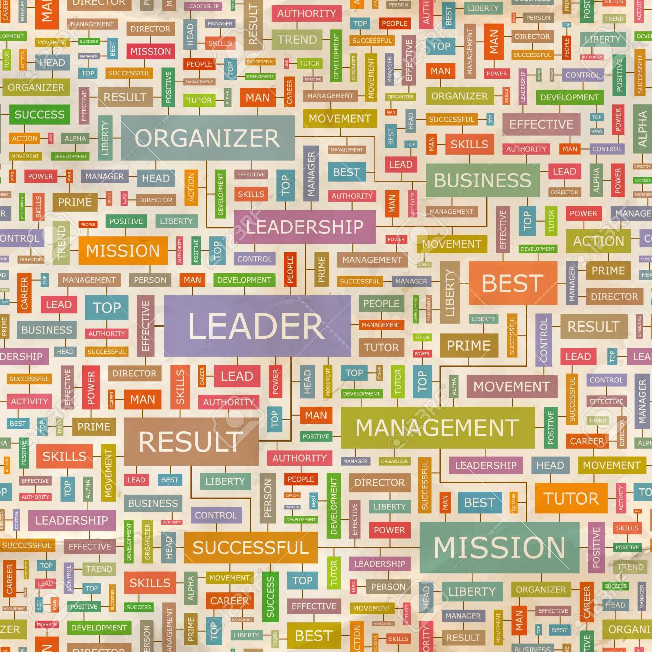 LEADER  Word collage  Seamless pattern Stock Vector - 18350223