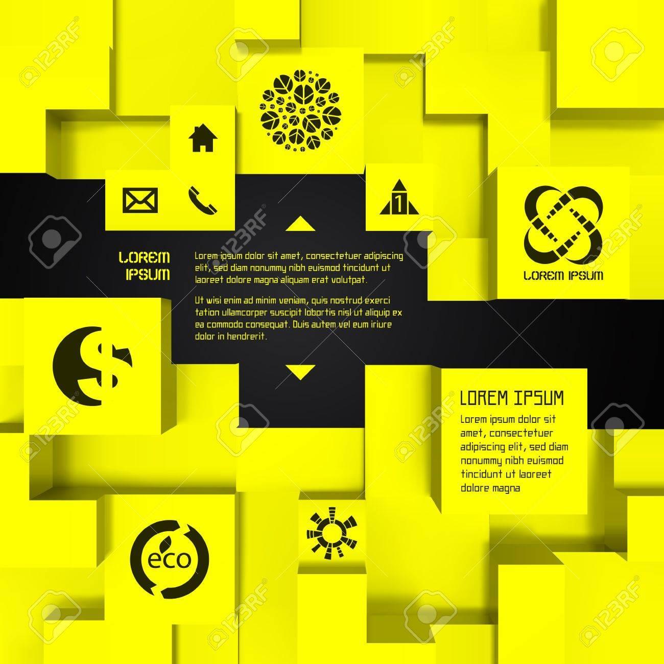 3D business illustration Vector background - 19525769