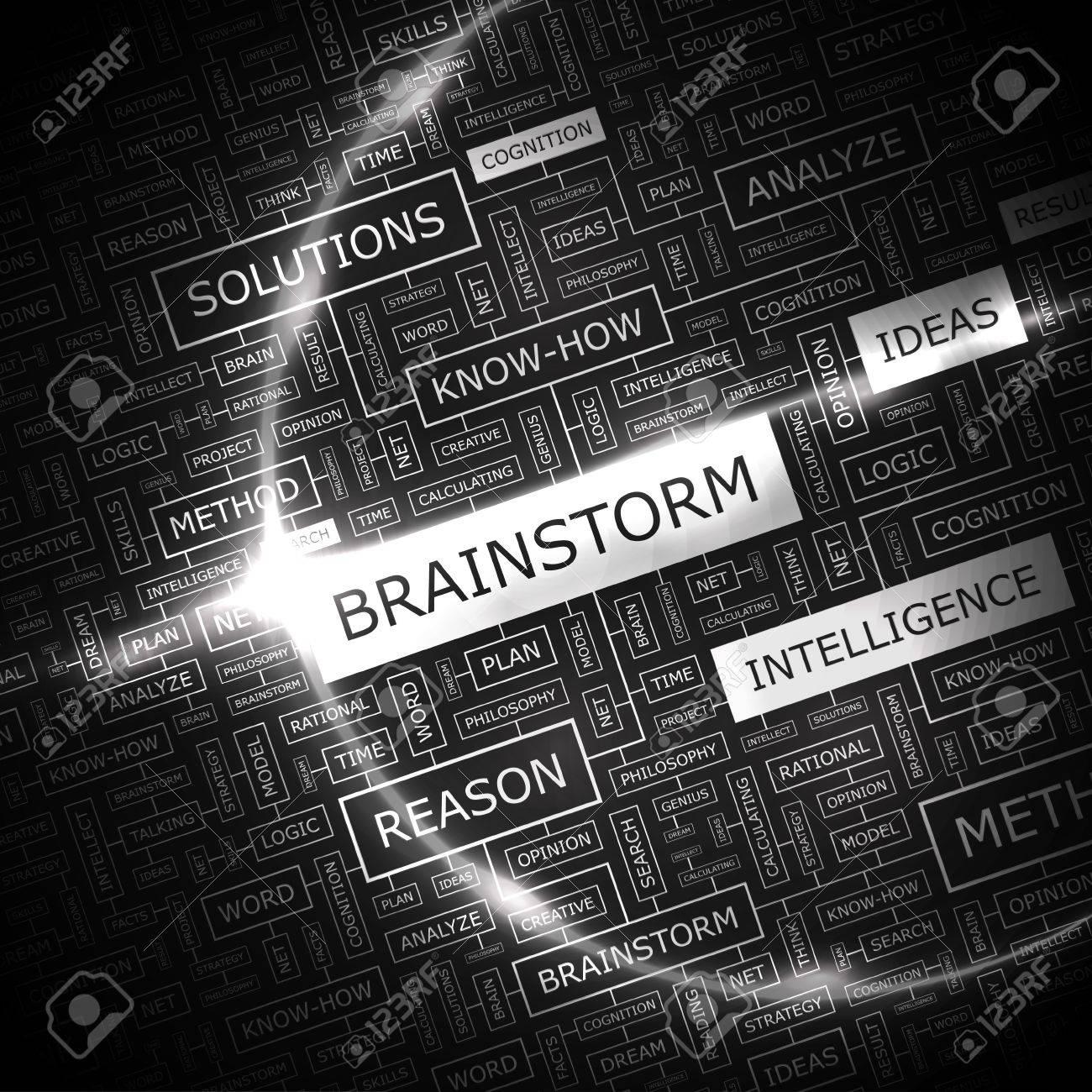 BRAINSTORM  Word cloud concept illustration Stock Vector - 20104976