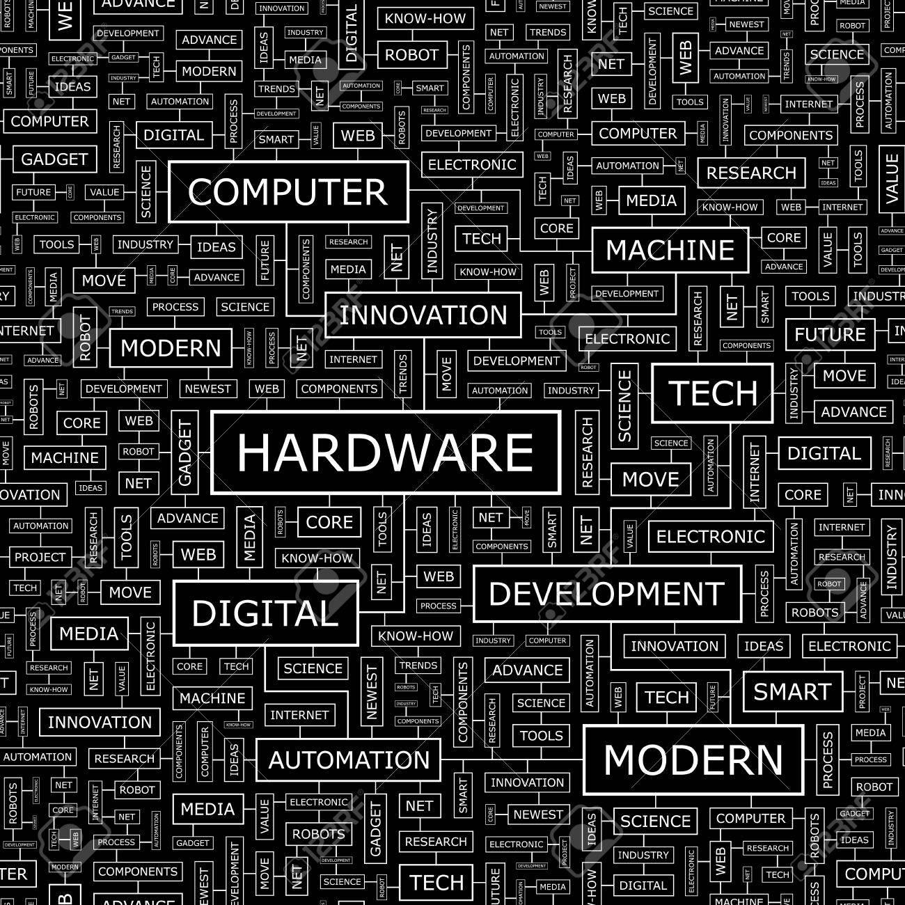 HARDWARE  Word cloud concept illustration Stock Vector - 20221678