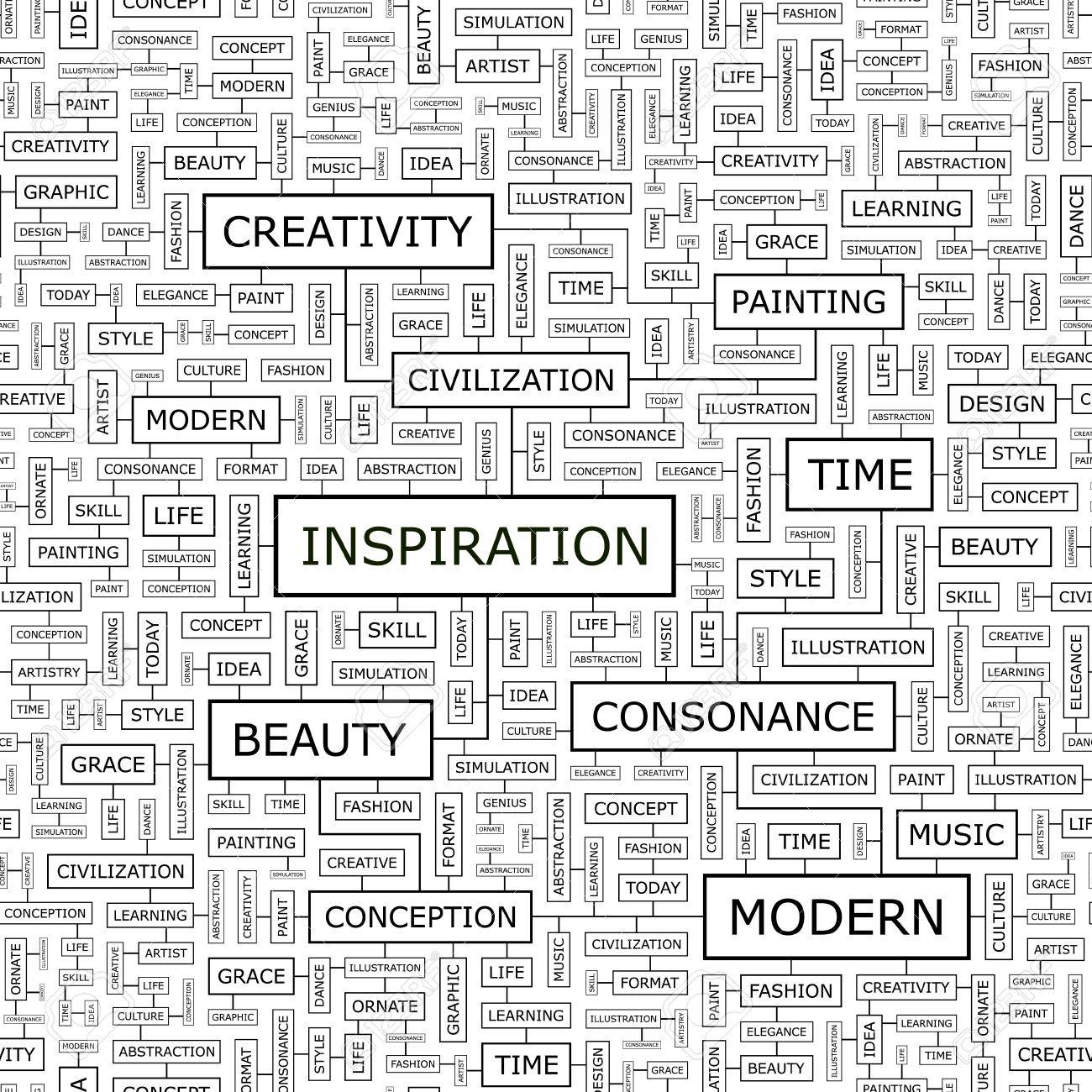 INSPIRATION  Word cloud concept illustration Stock Vector - 20221755