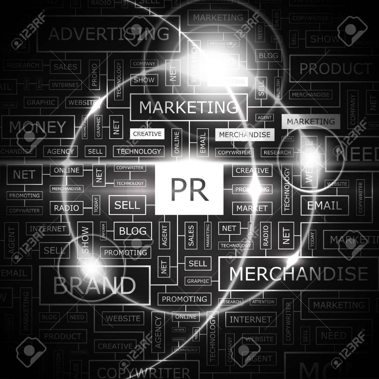 PR  Word cloud concept illustration Stock Vector - 20189510