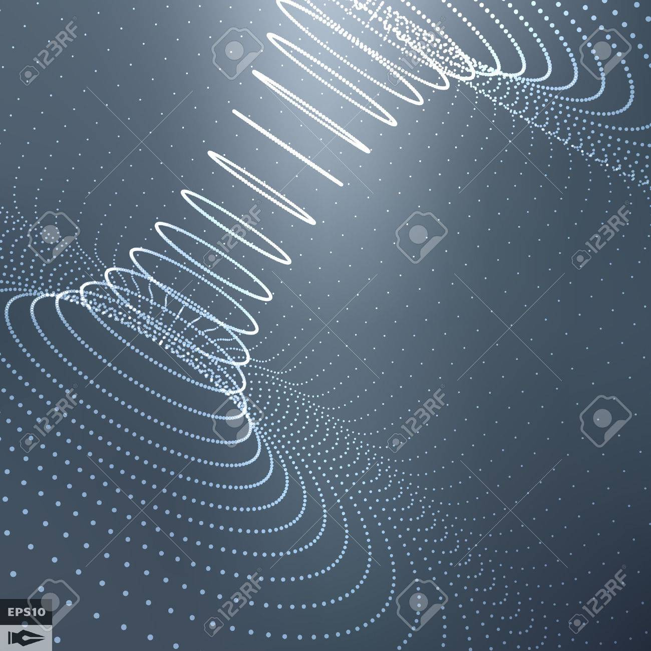 Abstract 3d Surface Looks Like Funnel Stock Vector - 47164826
