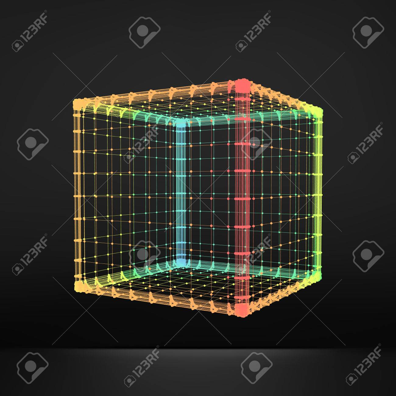 Würfel. Regelmäßige Hexahedron. Platonischen Körper. Regelmäßige ...