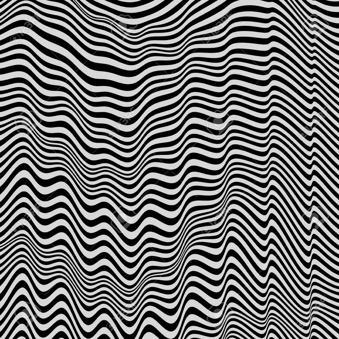Black and white background pattern with optical illusion vector black and white background pattern with optical illusion vector illustration voltagebd Gallery