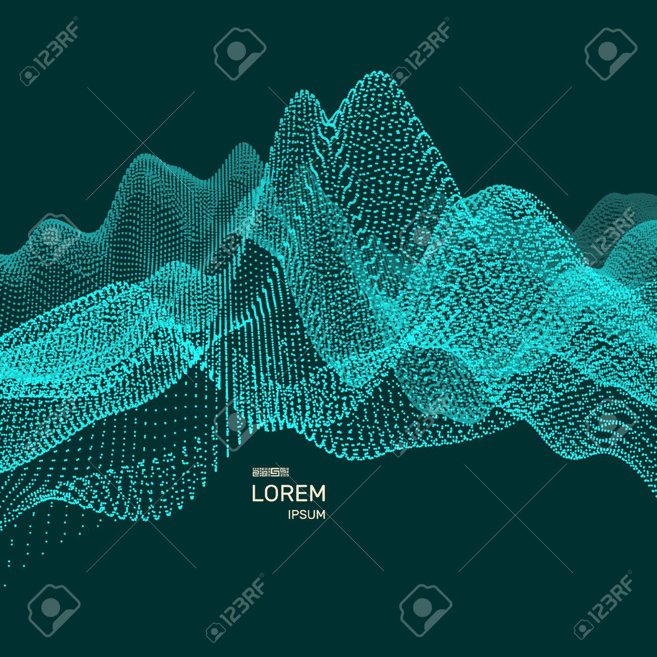 wavy background for banner flyer book cover poster big data