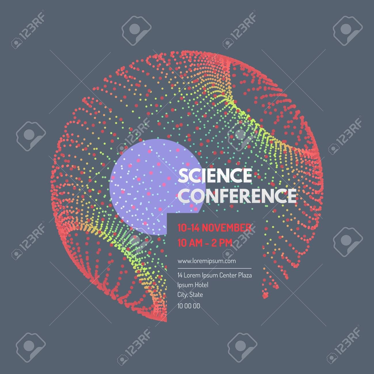 Science Conference Sphere Business Event Invitation Template
