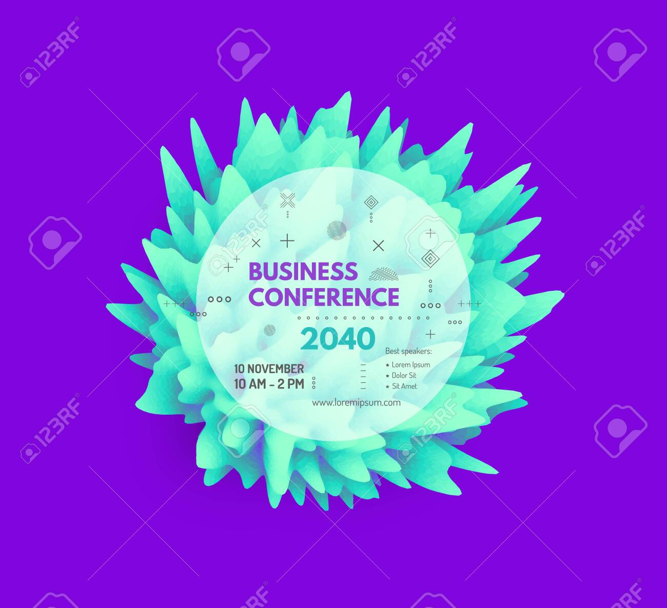 Business Event Invitation Template Floral Art Can Be Used For