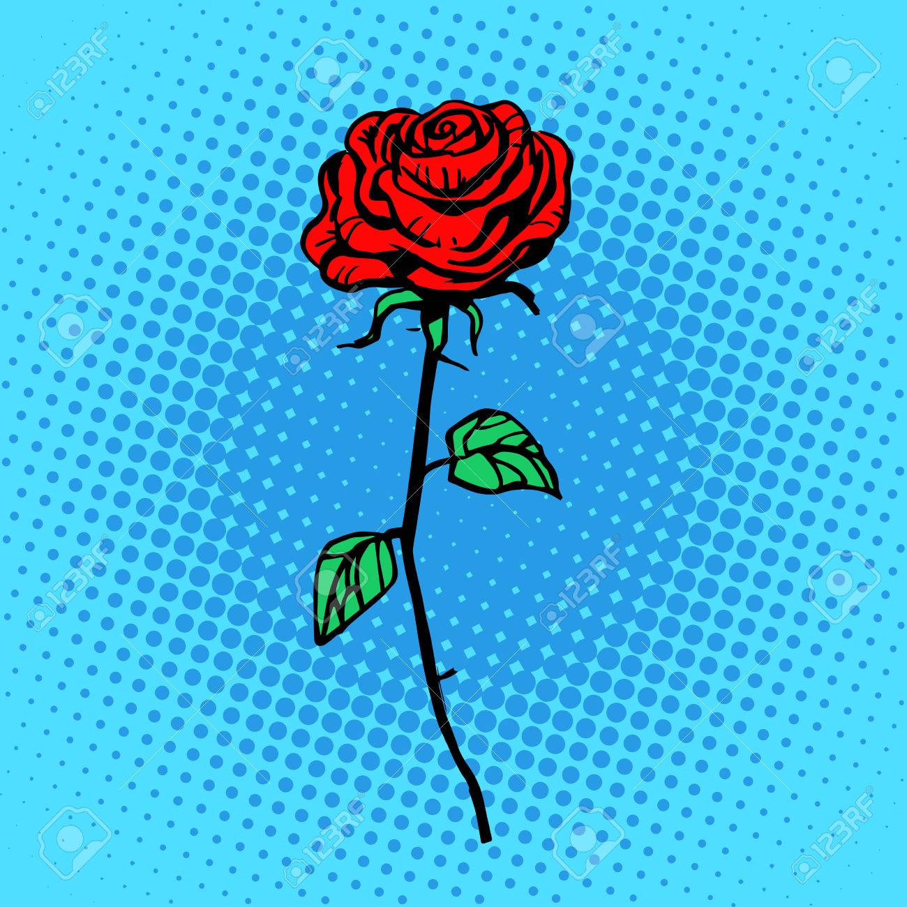Flower red rose stem with thorns a symbol of love and romance flower red rose stem with thorns a symbol of love and romance stock vector 44338095 buycottarizona