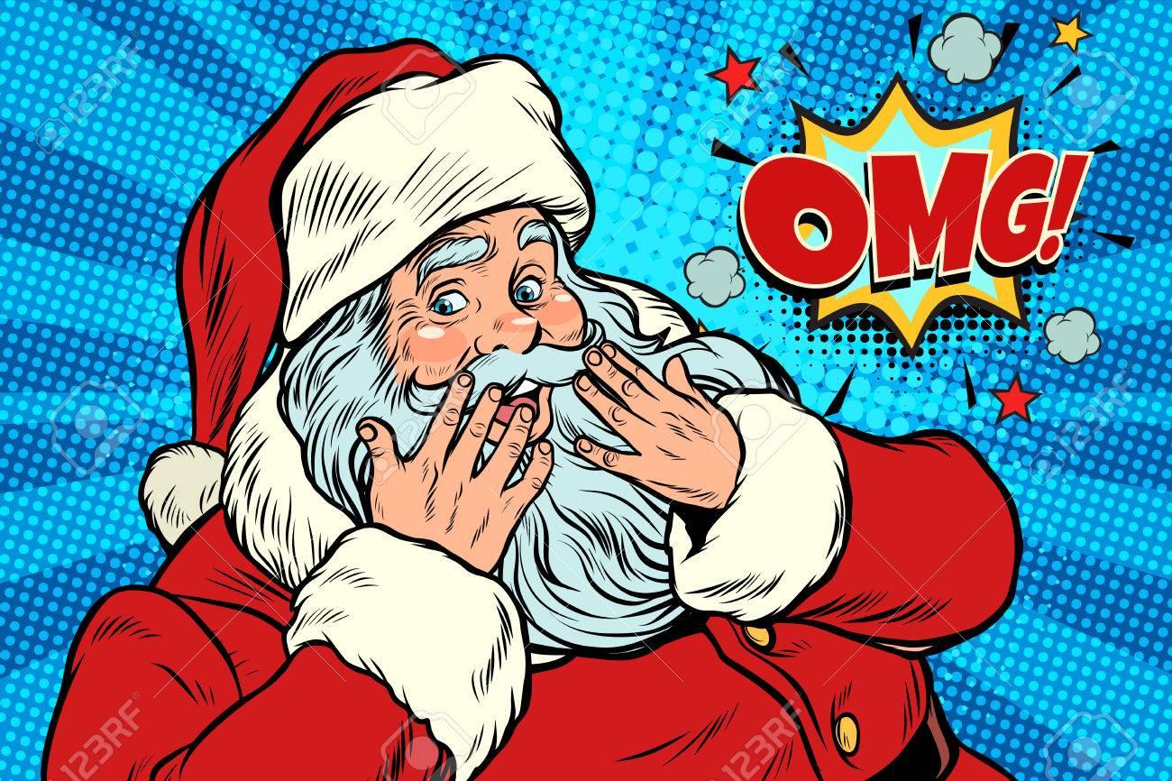 OMG surprise Santa Claus reaction - 85812187