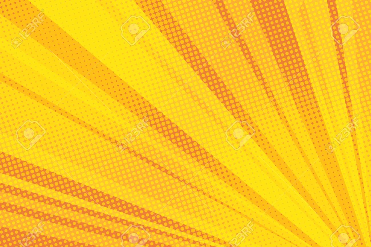 Pop art yellow background light - 93264498
