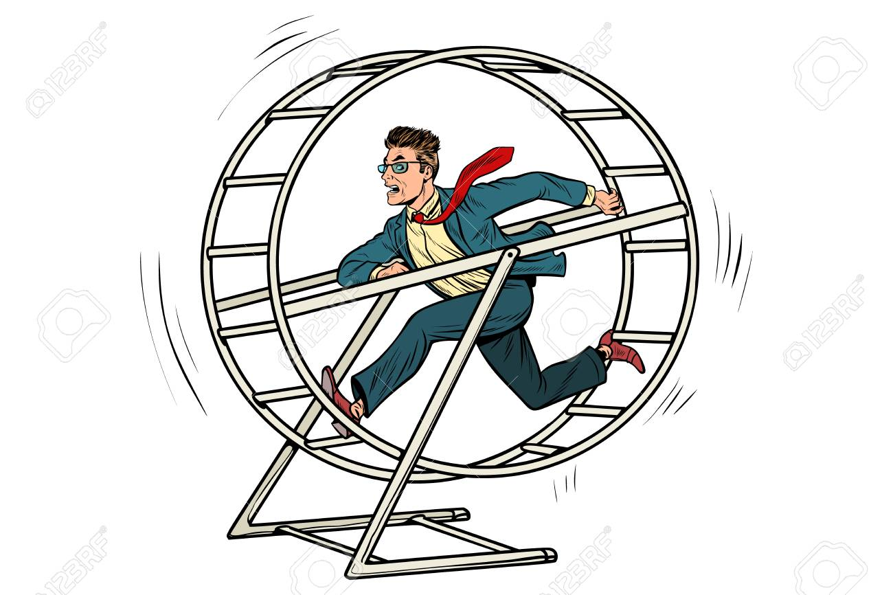 Businessman In A Squirrel Wheel Royalty Free Cliparts, Vectors, And Stock  Illustration. Image 95041592.