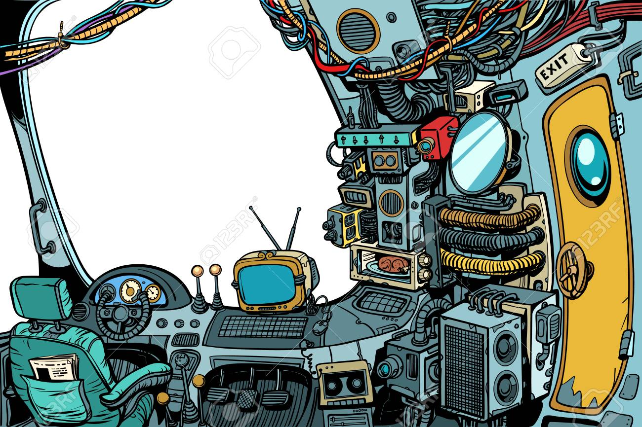 Navigational cabin of the spaceship - 98719953