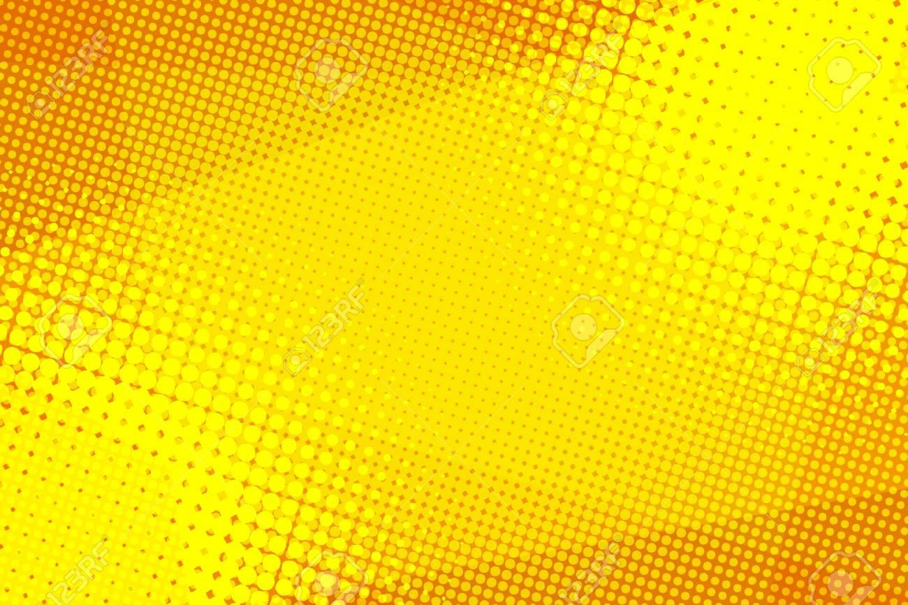 Yellow halftone background - 103637302