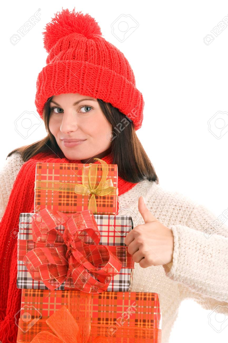 Woman with gifts Stock Photo - 8367255