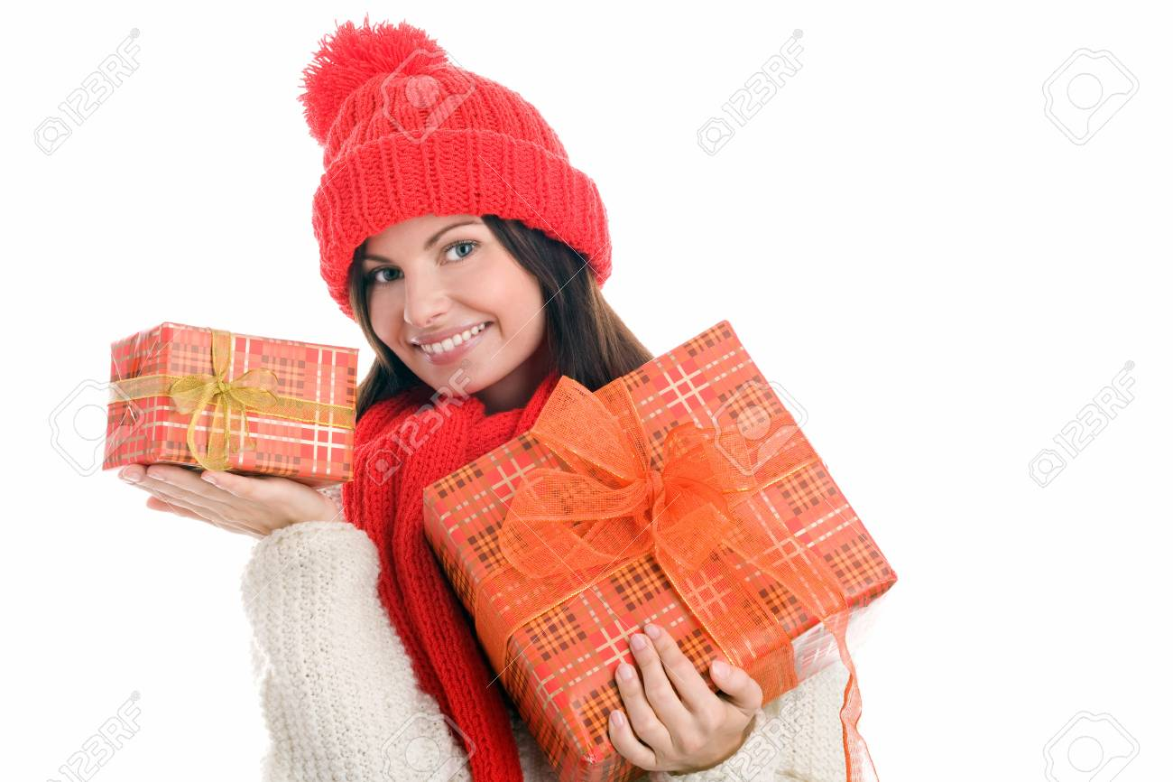 Woman with gifts Stock Photo - 8367250