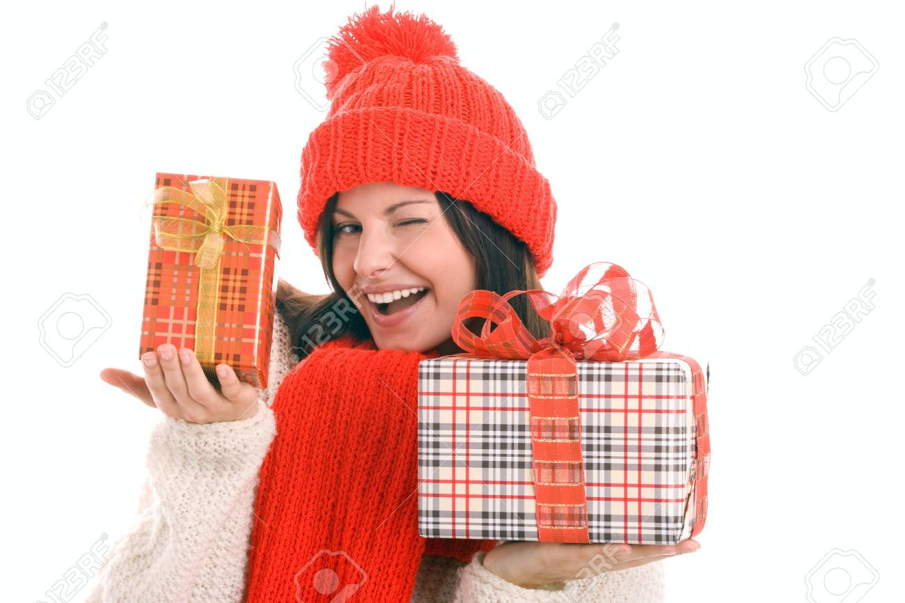 Woman with gifts Stock Photo - 8367254