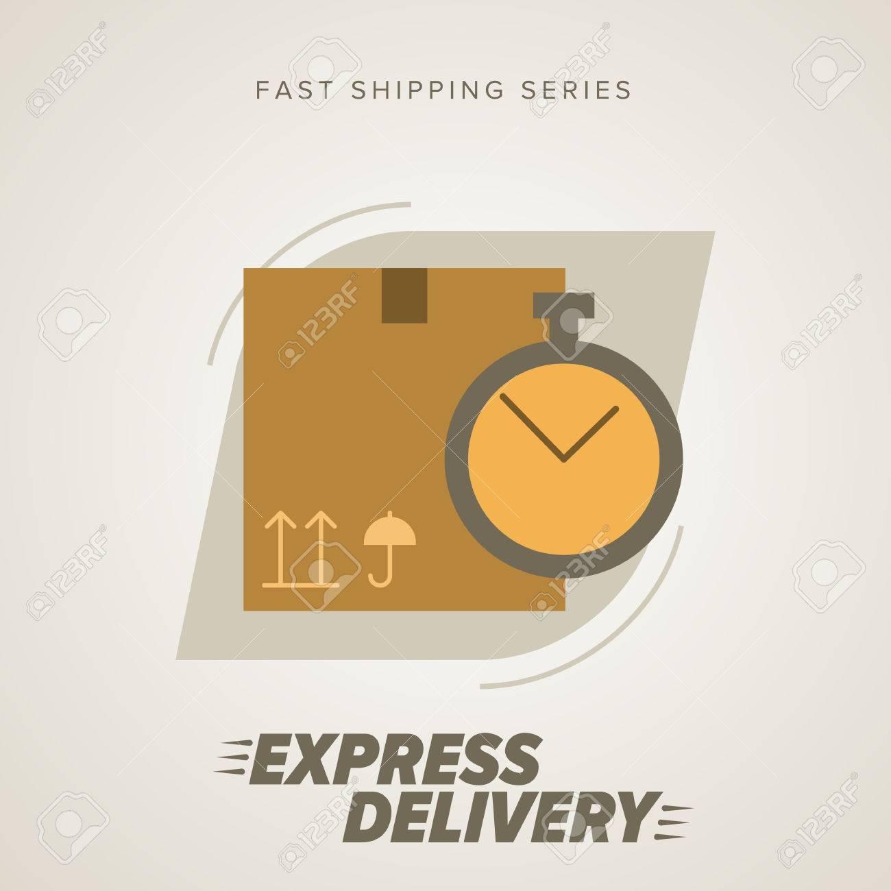 661199a5fde30c Services de livraison express. Éléments de camionnage. Expédition rapide.  vecteur de livraison de l'icône. Exprimez-livraison des marchandises. ...