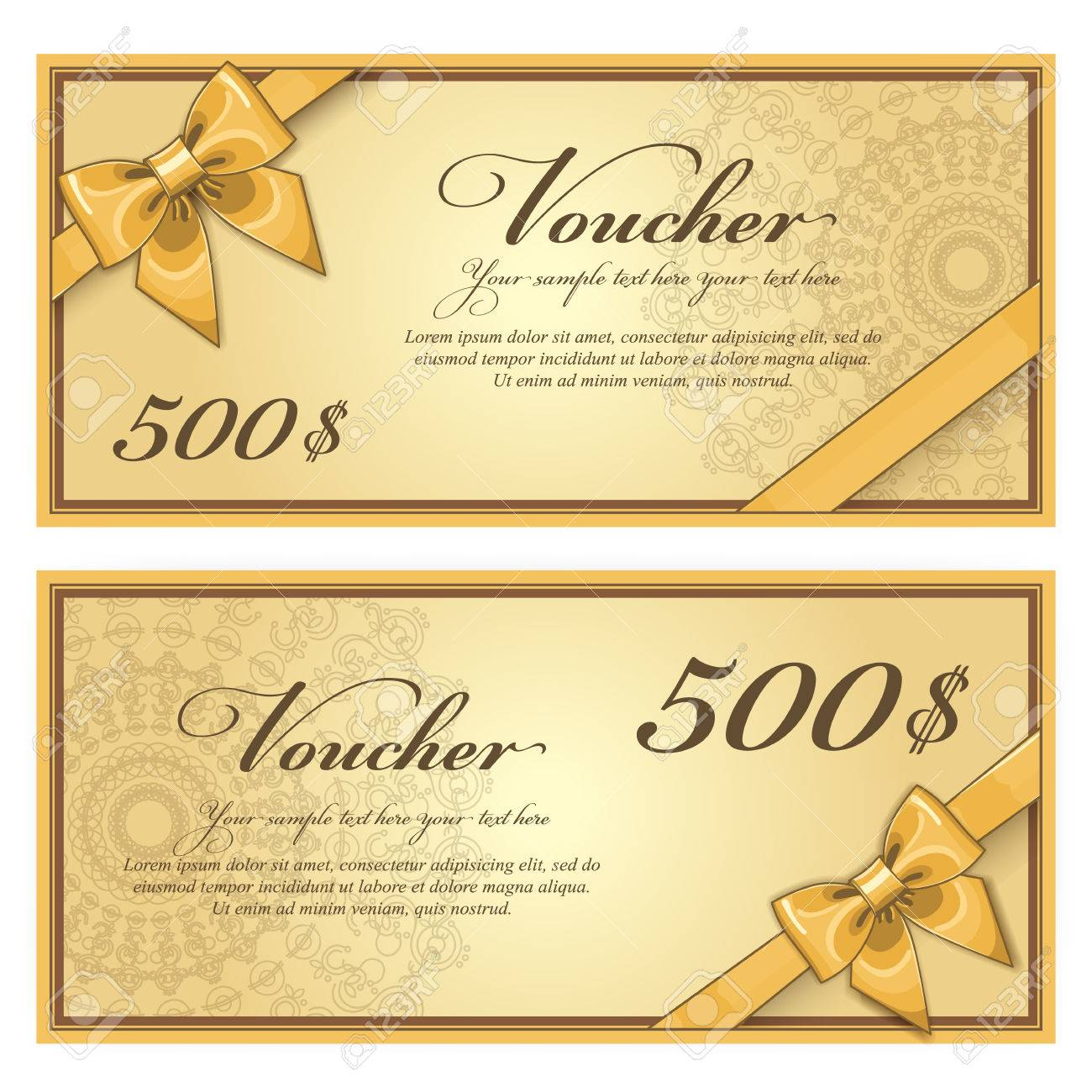 Gift Discount Voucher Template, Vector Layout. Special Offer Coupon. Business  Voucher Layout With  Business Voucher Template