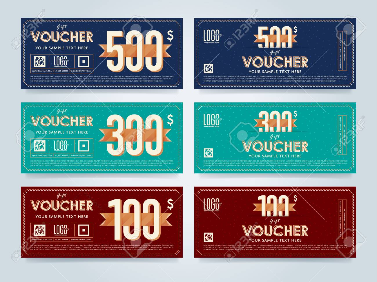 gift discount voucher template vector layout special offer
