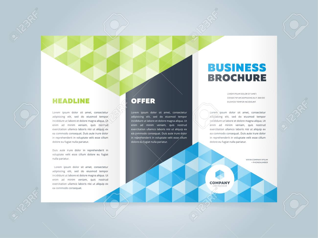 Trifold Business Brochure Design Template Vector Flyer Leaflet Royalty Free Cliparts Vectors And Stock Illustration Image 55802049