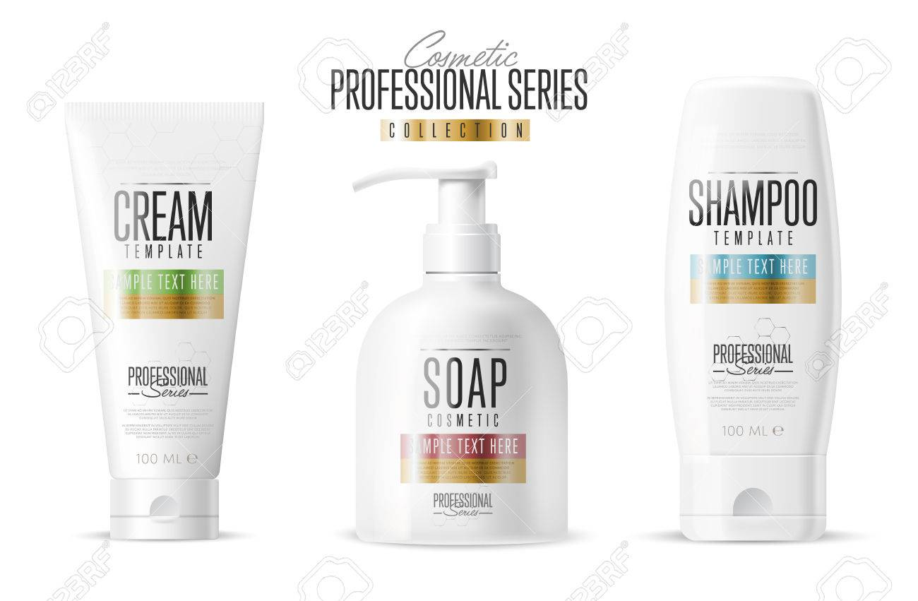 cosmetic brand template vector packaging body care product