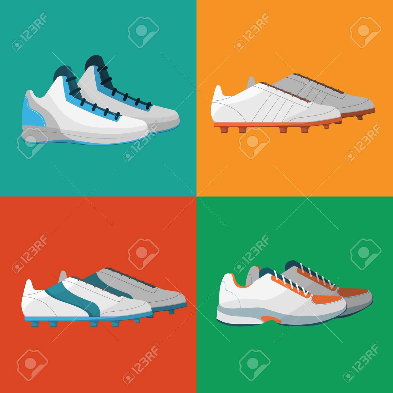 Deporte Zapatos De Ilustración Iconos ConjuntoVarios Vectorial PkZuXi