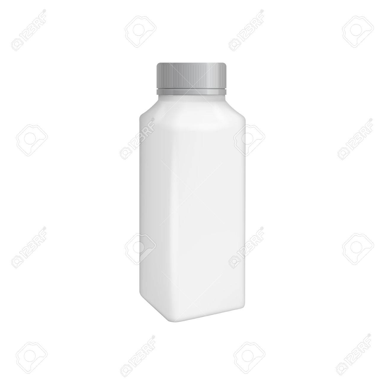 plastic bottle template for milk or yogurt product blank packaging