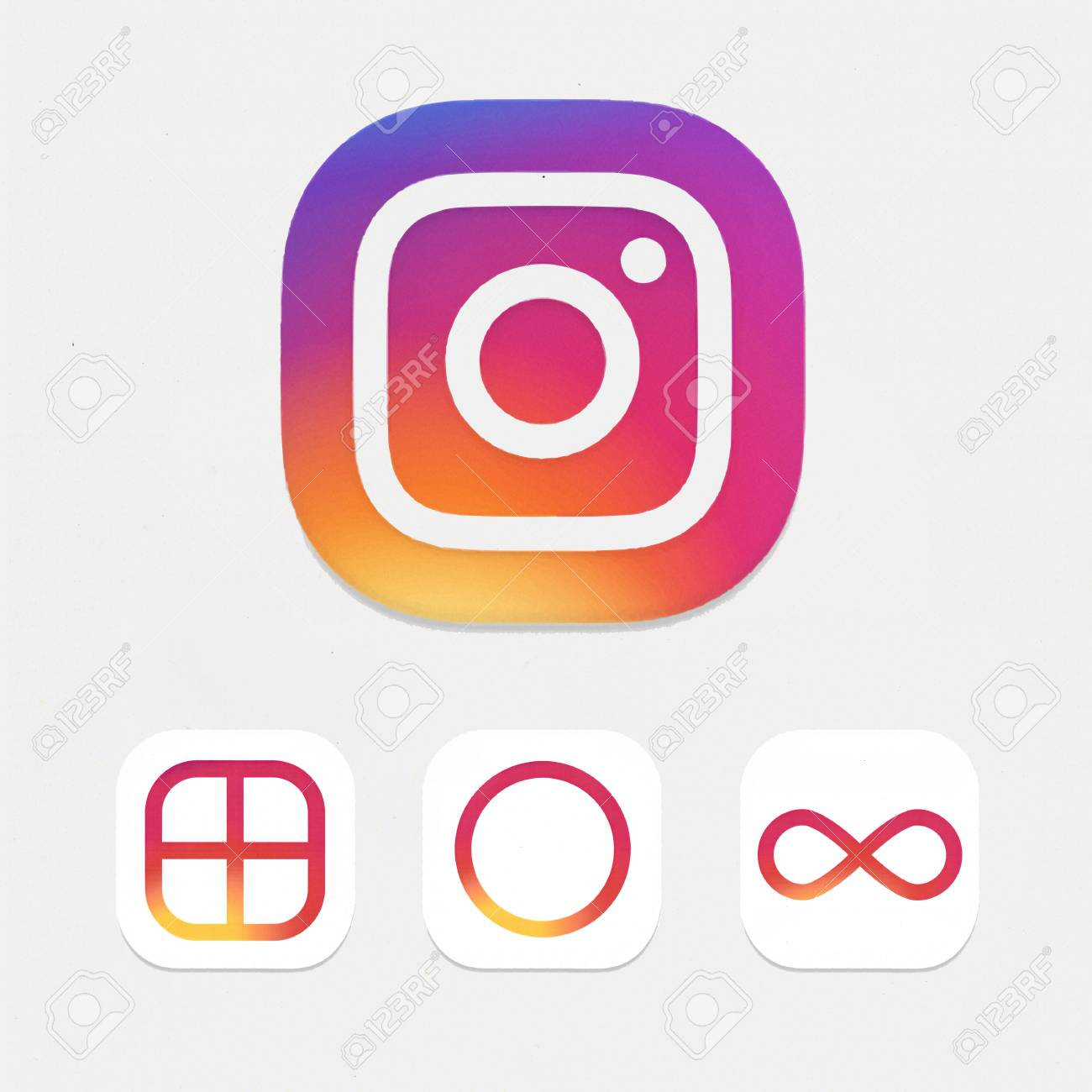 Moscow Russia May 14 2016 New Instagram Logotype Camera