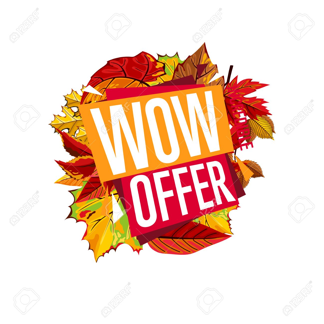 autumn sale design template vector illustration wow offer