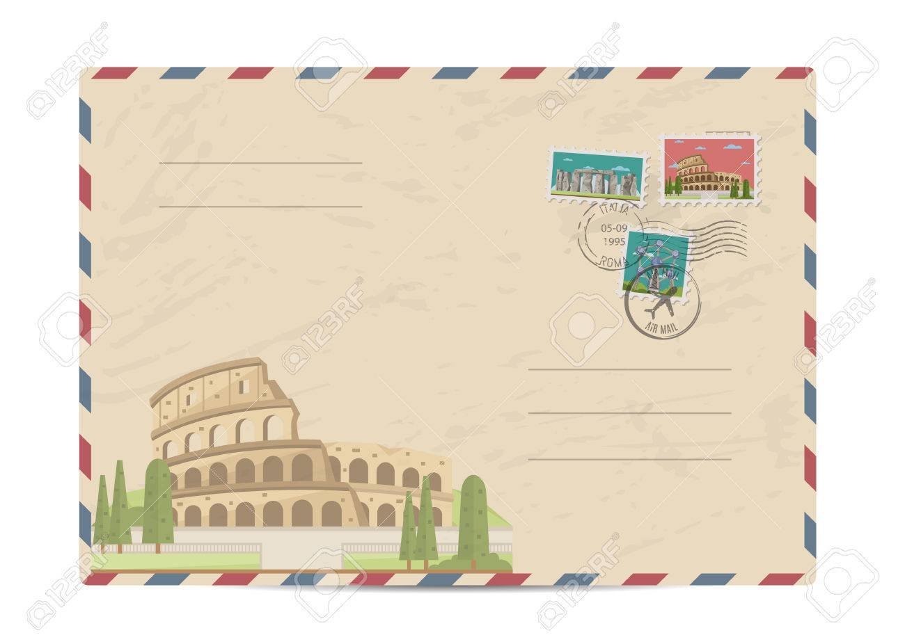 coliseum in rome italy ancient antique amphitheater postal