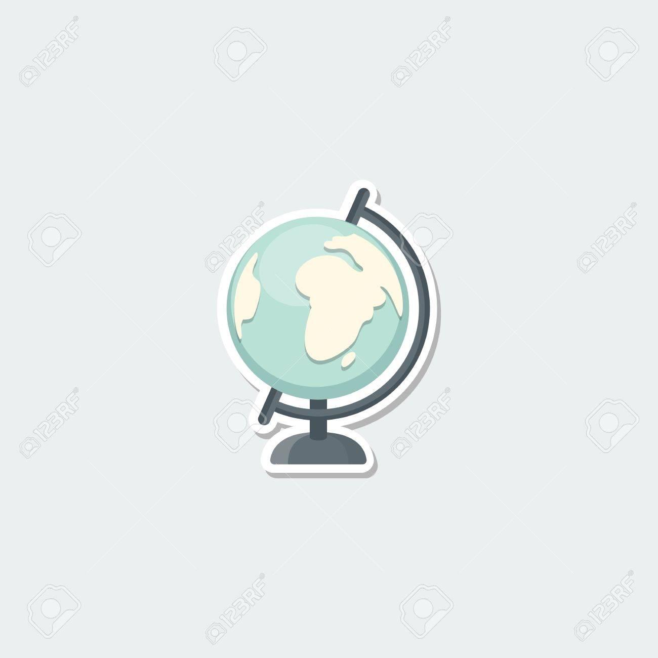 School Symbol World Globe School Education Earth Map