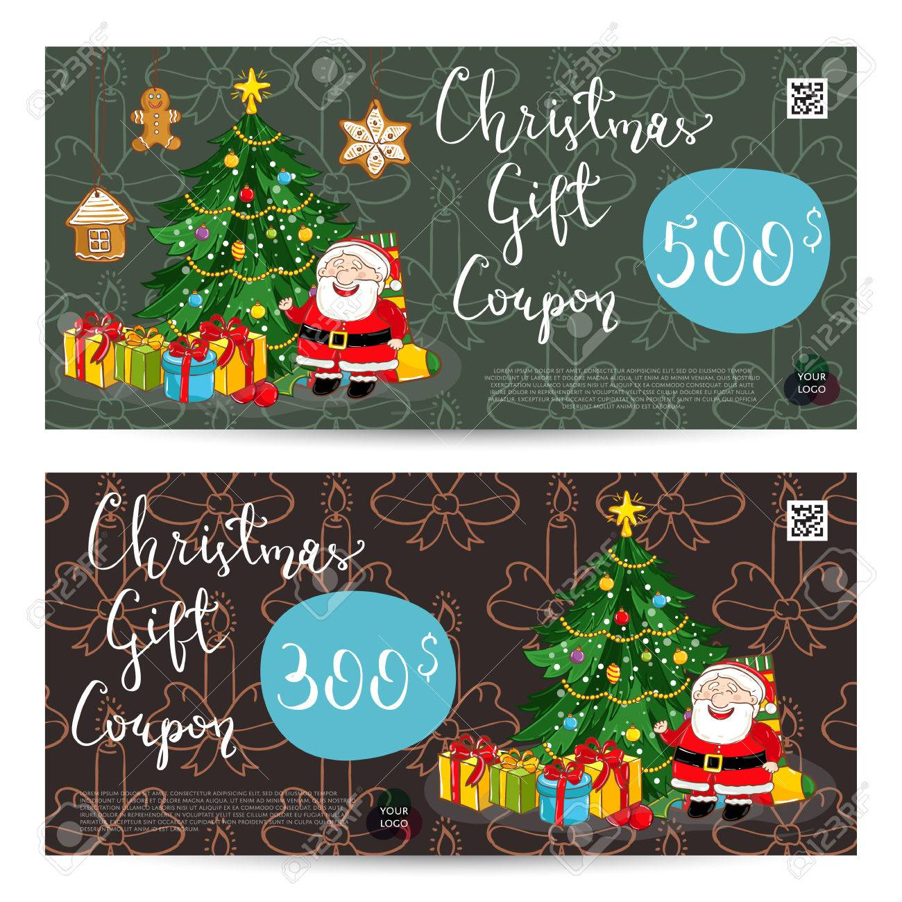 christmas gift voucher template gift coupon xmas attributes christmas gift voucher template gift coupon xmas attributes and prepaid sum santa