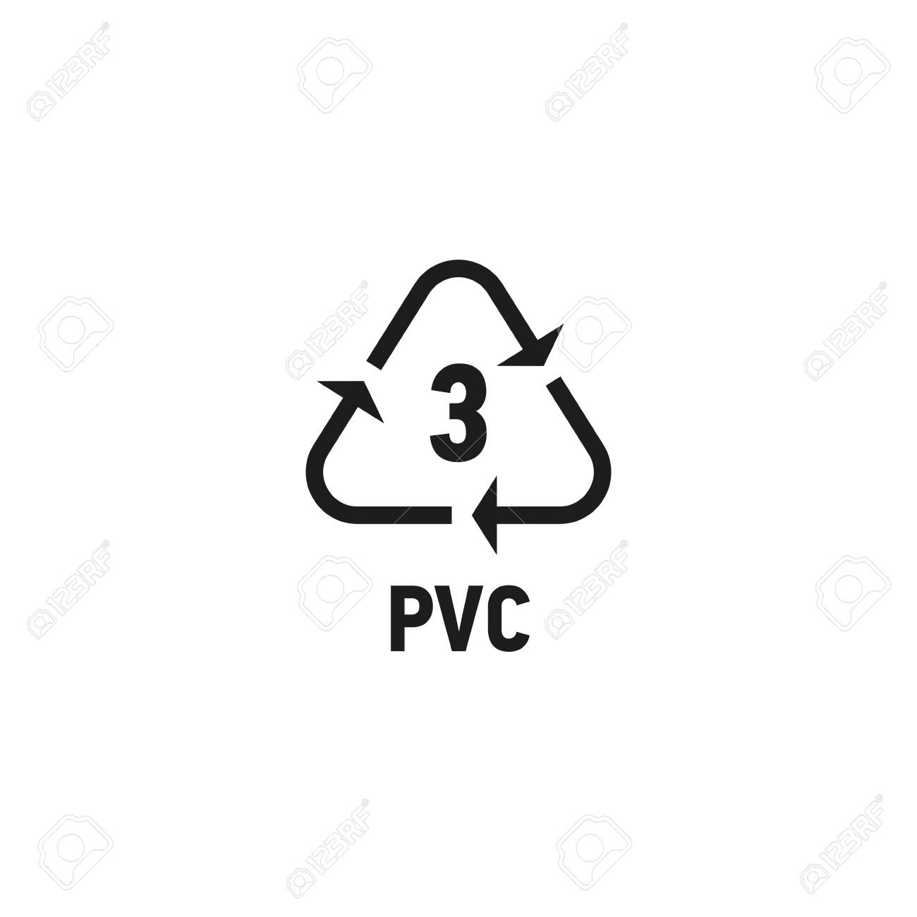 Plastic Recycling Symbol Isolated On White Royalty Free Cliparts