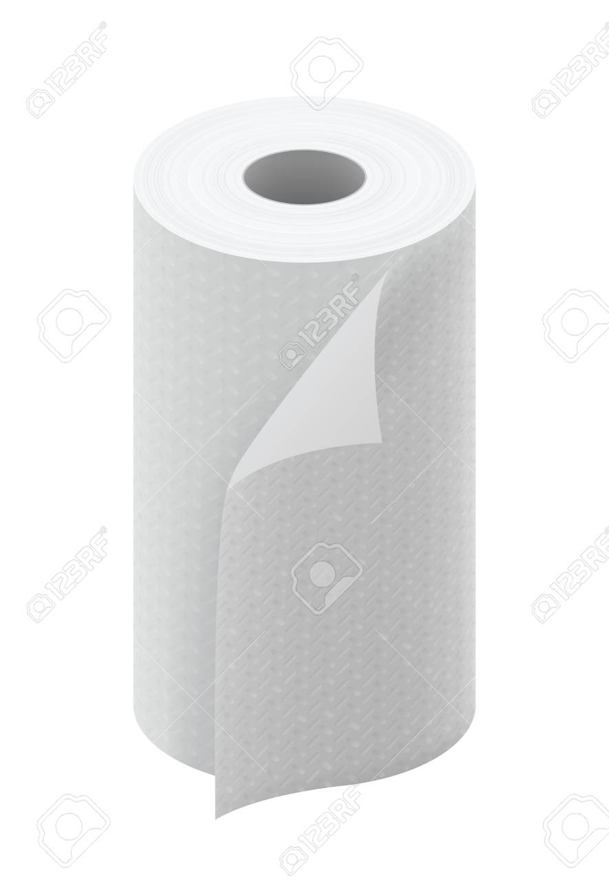White Paper Kitchen Towel Roll Stock Photo, Picture And Royalty Free ...