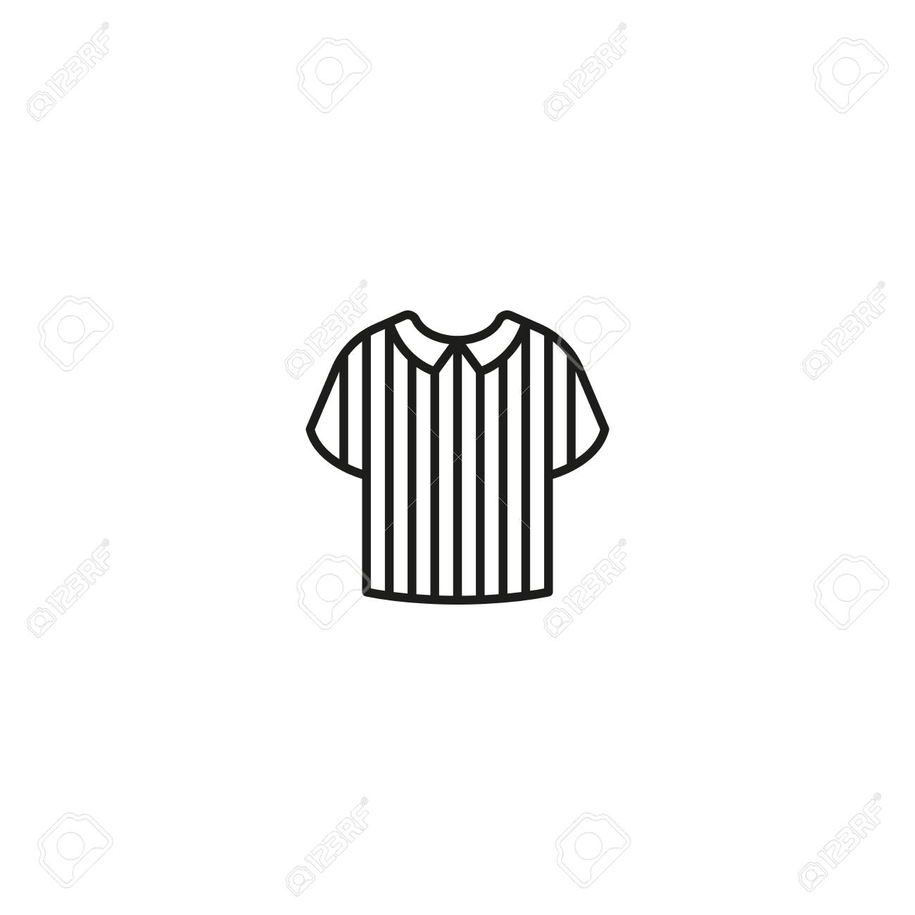 Minimalist Design Of Black Icon With Striped Shirt Of Football Royalty Free Cliparts Vectors And Stock Illustration Image 102568100