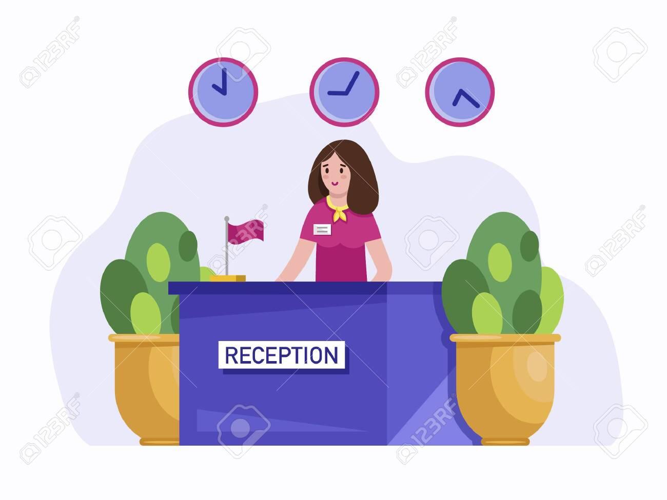 20+ Receptionist Cartoon  PNG
